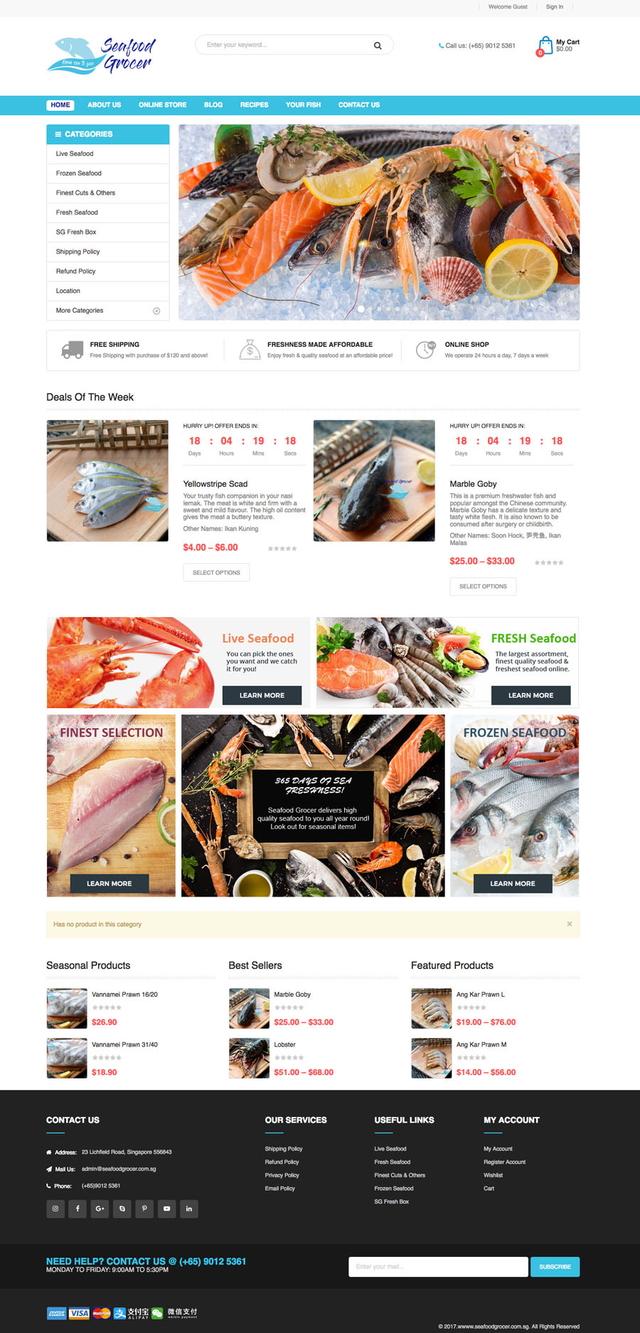 Web Design Seafood Website